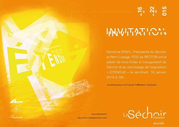 Expo Collective ETENDUE - Invitation Vernissage